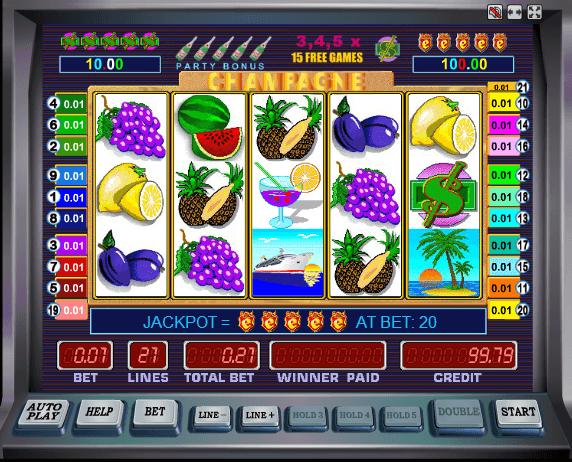Шампанское игровые автоматы бесплатно доходы интернет казино