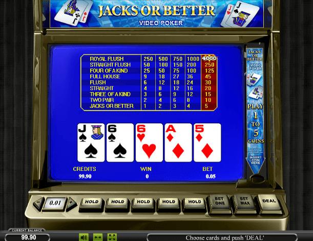 Играть в автомат Jacks or Better / Джек или больше