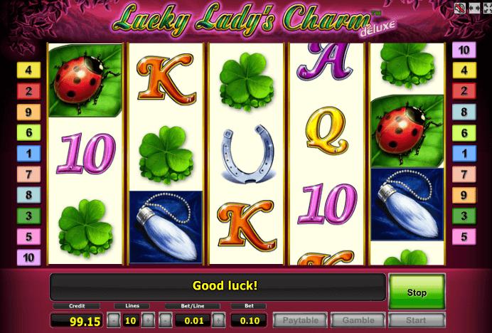 Играть в автомат Lucky Ladys Charm Deluxe / Лаки Леди Шарм Делюкс