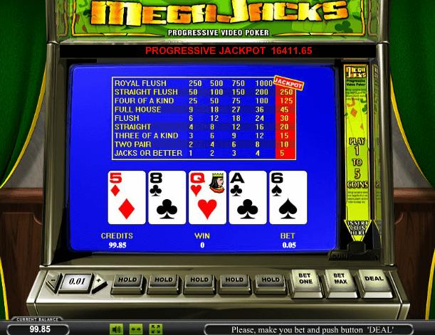 Играть в автомат Mega Jack Video Poker / Мега Джек Видео Покер
