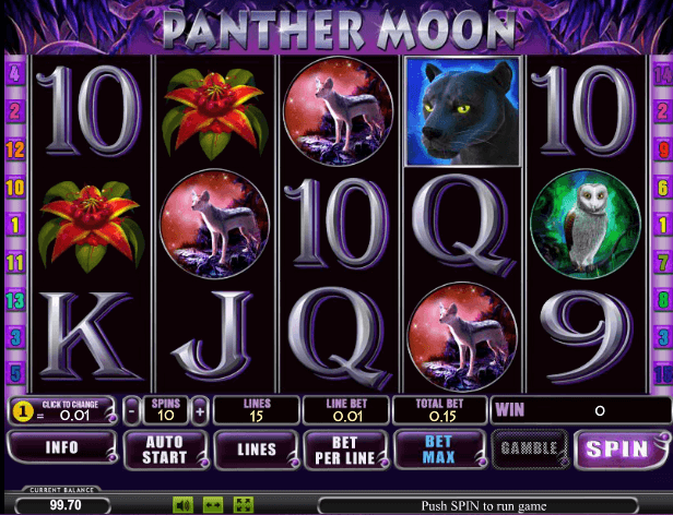 Играть в автомат Panther Moon / Луна Пантеры