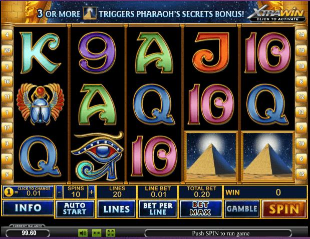 Играть в автомат Pharaohs Secrets / Секрет Фараона