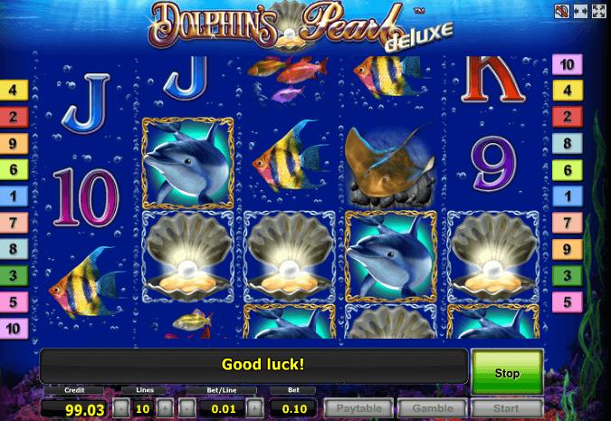 Играть в автомат Dolphins pearl Deluxe / Дельфины Делюкс