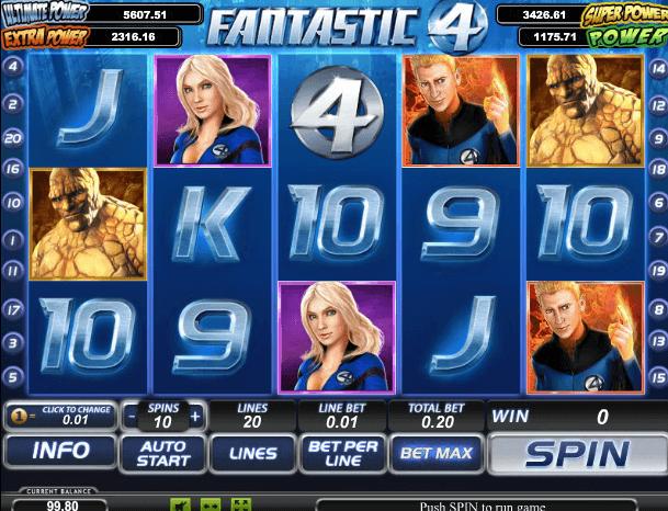 Играть в автомат Fantastic Four / Фантастическая четверка
