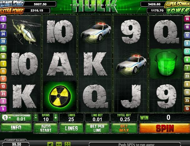 Играть в автомат The Incredible Hulk / Невероятный Халк