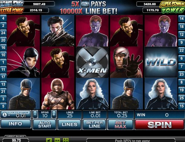 Играть в автомат X-Men / Люди Икс